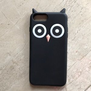 iPhone 7 Plus owl motif rubber case